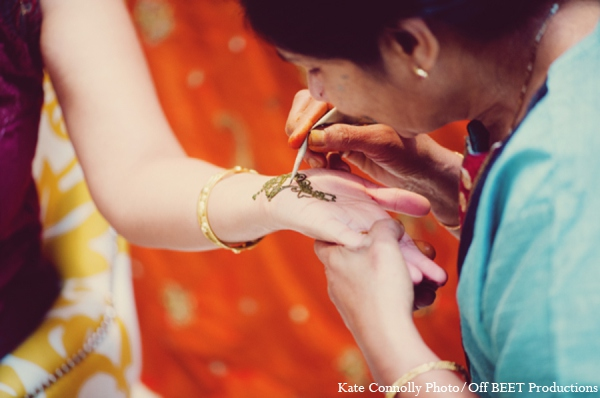 Indian wedding bride mehndi in Rockleigh, New Jersey Indian Wedding by Kate Connolly Photography