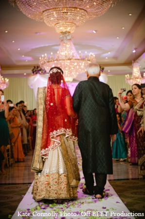 Indian wedding ceremony lighting in Rockleigh, New Jersey Indian Wedding by Kate Connolly Photography