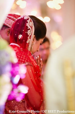 Indian wedding ceremony outfit in Rockleigh, New Jersey Indian Wedding by Kate Connolly Photography