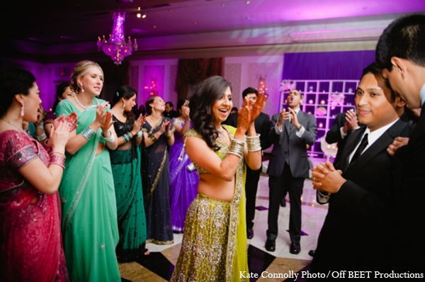 Indian wedding reception bride in Rockleigh, New Jersey Indian Wedding by Kate Connolly Photography