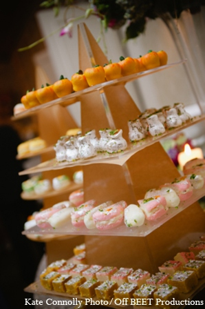 Indian wedding reception desserts in Rockleigh, New Jersey Indian Wedding by Kate Connolly Photography
