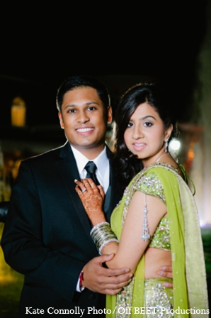 Indian wedding reception outfit in Rockleigh, New Jersey Indian Wedding by Kate Connolly Photography
