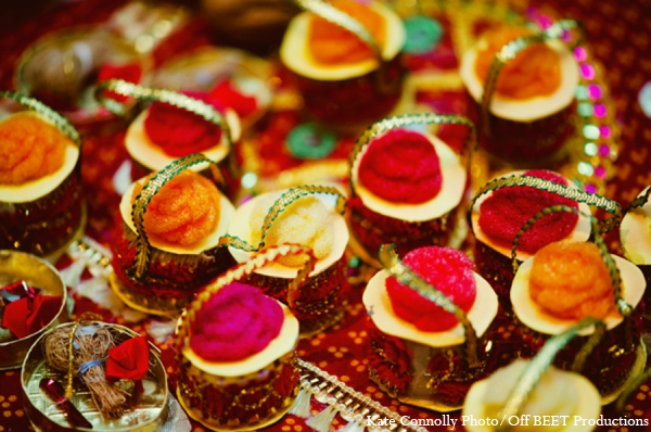 Indian wedding sangeet cakes in Rockleigh, New Jersey Indian Wedding by Kate Connolly Photography