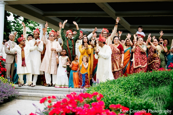Indian wedding baraat guests family in Neptune, New Jersey Indian Wedding by Kate Connolly Photography