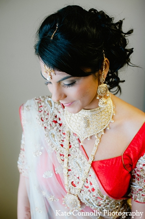 Indian wedding bridal fashion jewelry in Neptune, New Jersey Indian Wedding by Kate Connolly Photography