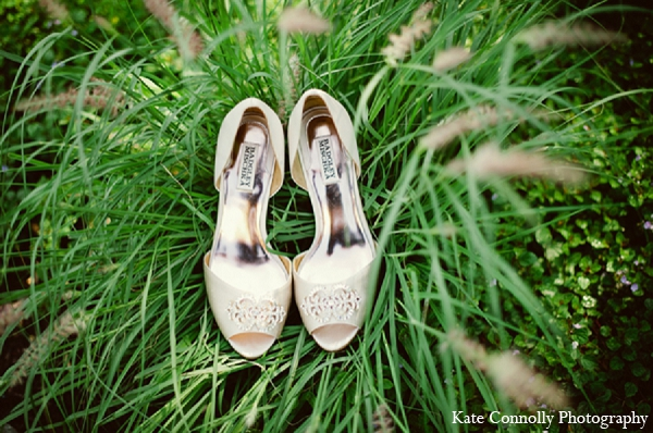 Indian wedding bridal fashion shoes in Neptune, New Jersey Indian Wedding by Kate Connolly Photography