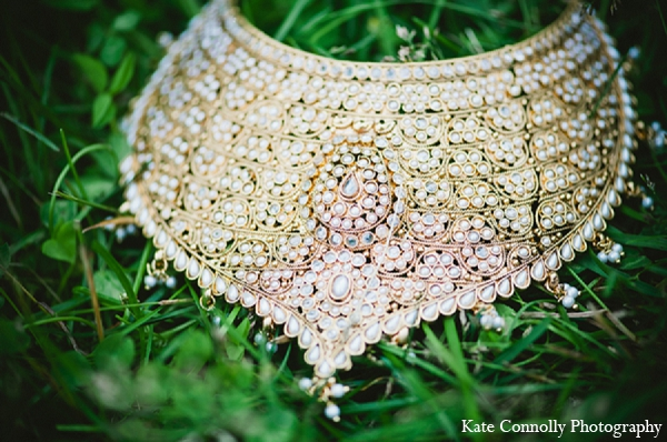 Indian wedding bridal jewelry necklace in Neptune, New Jersey Indian Wedding by Kate Connolly Photography