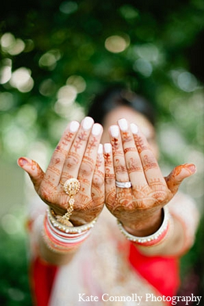 Indian wedding bridal mehndi in Neptune, New Jersey Indian Wedding by Kate Connolly Photography