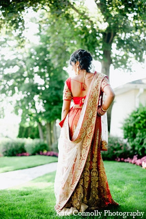 Indian-wedding-bride-fashion-portraits in Neptune, New Jersey Indian Wedding by Kate Connolly Photography