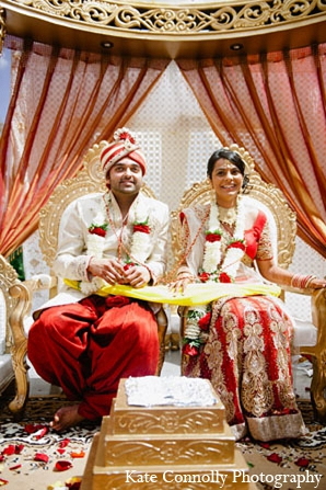 Indian wedding bride groom ceremony in Neptune, New Jersey Indian Wedding by Kate Connolly Photography