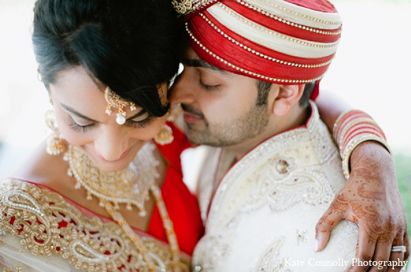 Indian wedding bride groom portraits in Neptune, New Jersey Indian Wedding by Kate Connolly Photography