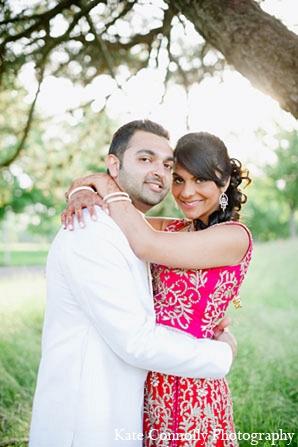 Indian wedding bride groom reception portraits in Neptune, New Jersey Indian Wedding by Kate Connolly Photography
