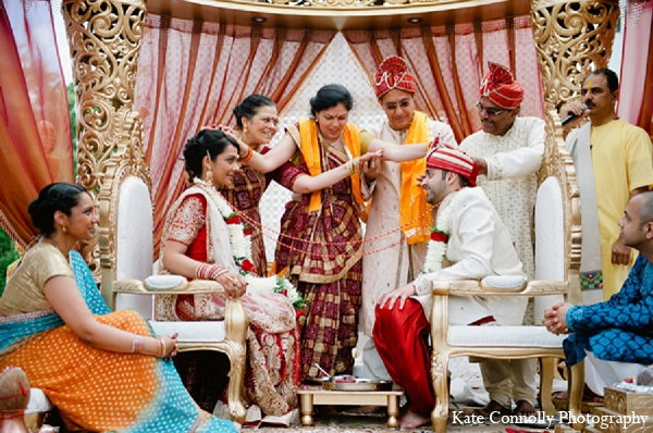 Indian wedding ceremony hindu bride groom in Neptune, New Jersey Indian Wedding by Kate Connolly Photography