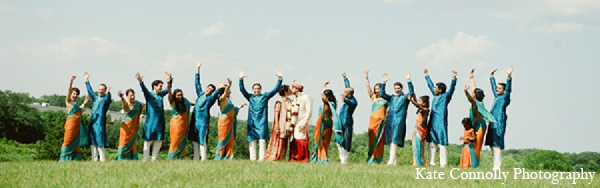 Indian wedding portraits bride groom bridal party outdoors in Neptune, New Jersey Indian Wedding by Kate Connolly Photography