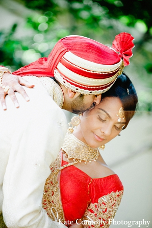 Indian wedding portraits bride groom in Neptune, New Jersey Indian Wedding by Kate Connolly Photography