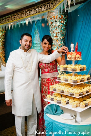 Indian Wedding Reception Bride Groom Cake Topper Cupcakes In Neptune New Jersey By