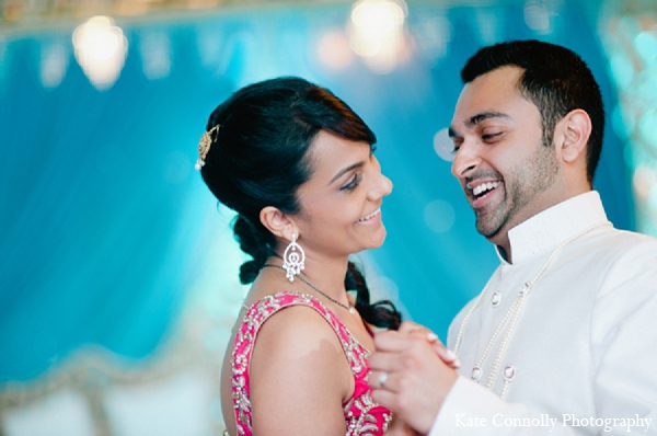 Indian wedding reception bride groom portraits in Neptune, New Jersey Indian Wedding by Kate Connolly Photography
