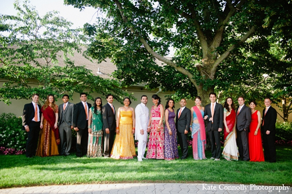 Indian wedding reception fashion bridal party in Neptune, New Jersey Indian Wedding by Kate Connolly Photography
