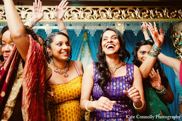 Indian wedding reception fashion colorful in Neptune, New Jersey Indian Wedding by Kate Connolly Photography