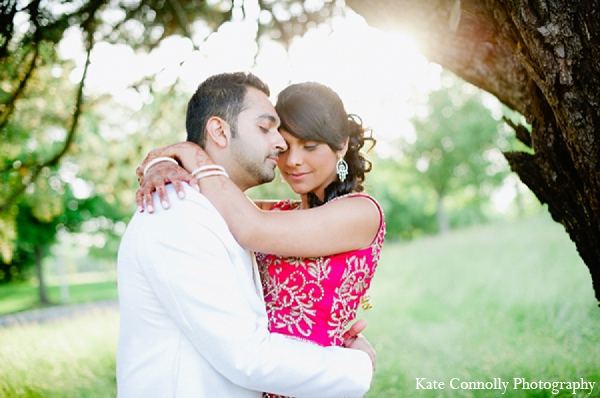 Indian wedding reception portraits bride groom in Neptune, New Jersey Indian Wedding by Kate Connolly Photography