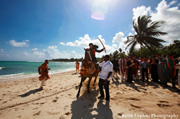 Indian-wedding-baraat-on-beach