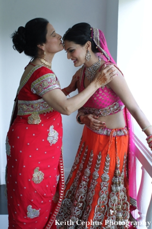 Indian-wedding-bride-and-mother-get-ready
