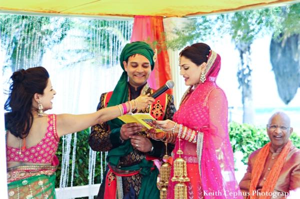 Indian-wedding-bride-groom-at-ceremony-mandap