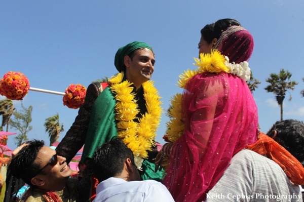 Indian-wedding-bride-groom-at-outdoor-ceremony