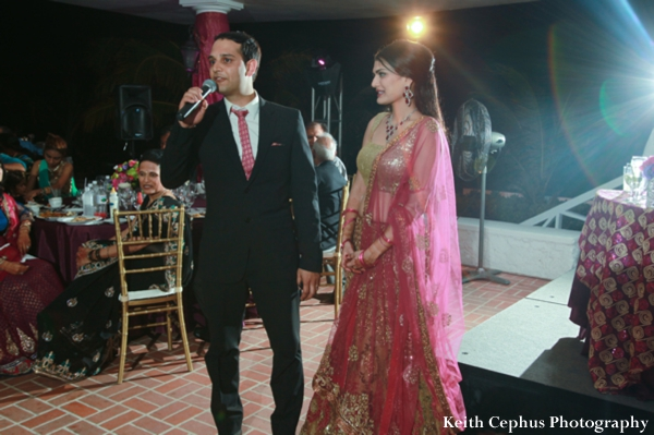 Indian-wedding-bride-groom-at-reception-dance