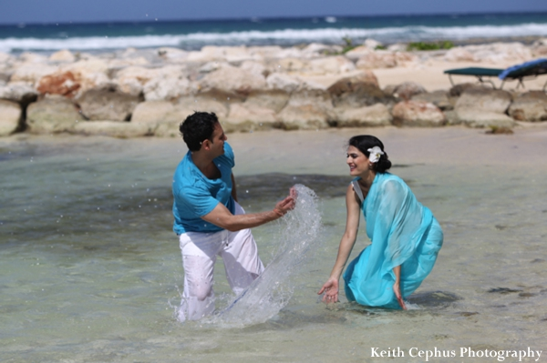 Indian-wedding-bride-groom-in-water-portrait