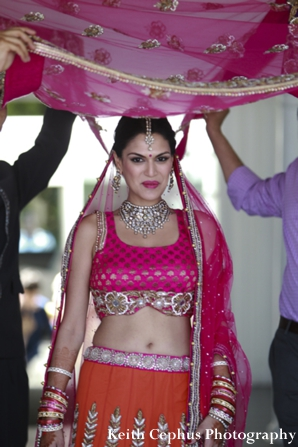 Indian-wedding-bride-lengha-under-veil
