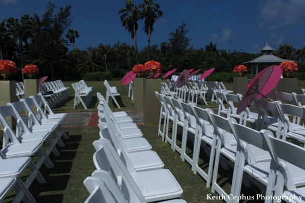 Indian-wedding-ceremony-white-chairs-outdoors