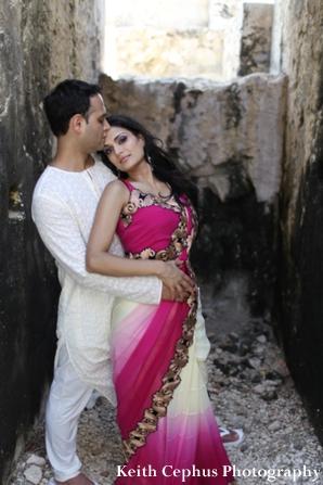 Indian-wedding-portraide-outdoors-bride-groom