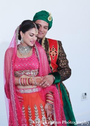 Indian-wedding-portrait-after-ceremony-bride-groom