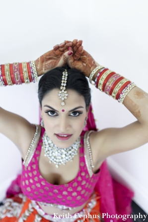 Indian-wedding-portrait-bride-bangles-lengha