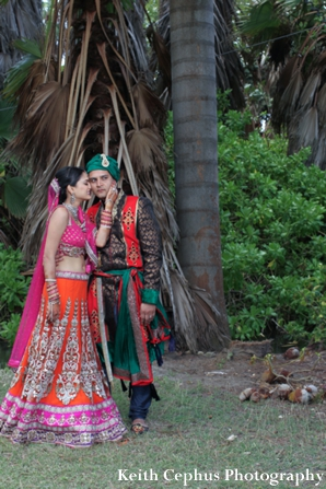 Indian-wedding-portrait-bride-groom-outdoors