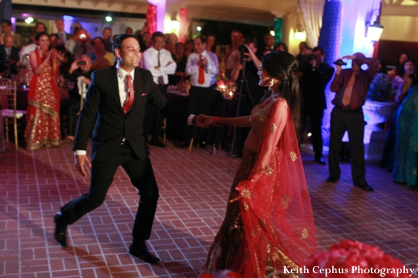 Indian-wedding-reception-bride-and-groom