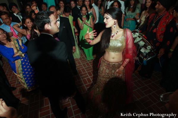 Indian-wedding-reception-dance-bride-groom