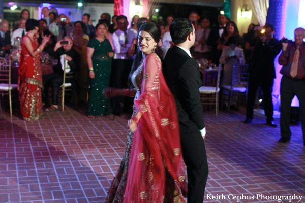 Indian-wedding-reception-dancing-bride-groom