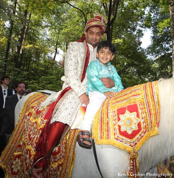 Indian-wedding-baraat-groom-child