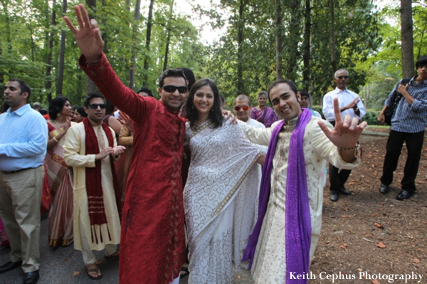 Indian-wedding-baraat-party-guests-pose