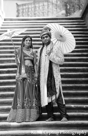 Indian-wedding-ceremony-before-portrait-black-white