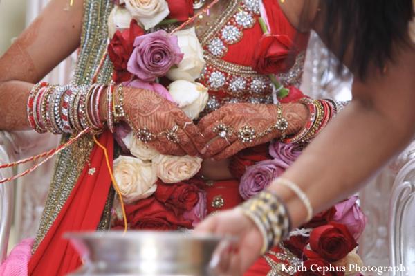 Indian-wedding-ceremony-bride-floral-detail