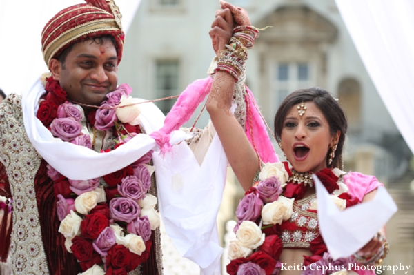 Indian-wedding-ceremony-floral-groom-bride