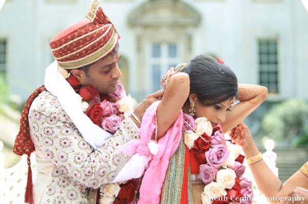 Indian-wedding-ceremony-groom-bride-floral