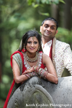 Indian-wedding-portrait-bride-groom-garden