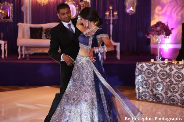 Indian-wedding-reception-first-dance-bride-groom