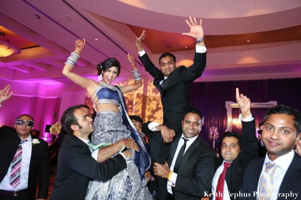 Indian-wedding-reception-groom-bride-dancing