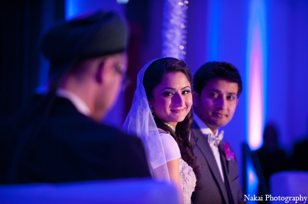 Indian bride groom reception in Chicago, Illinois Pakistani Fusion Wedding by Nakai Photography
