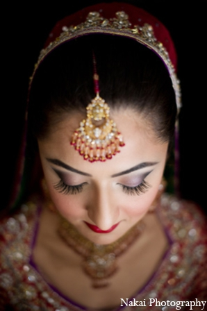 Indian wedding accessories hair in Chicago, Illinois Pakistani Fusion Wedding by Nakai Photography